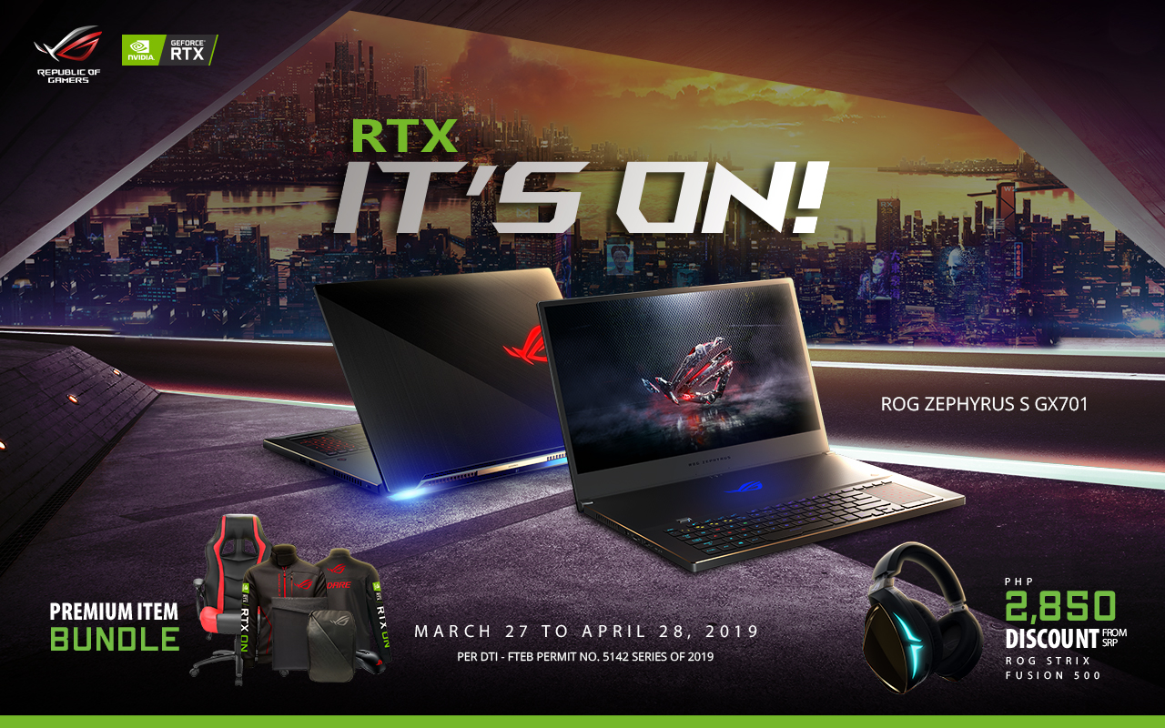 RTX IT'S ON, Get it on with ASUS ROG's RTX IT'S ON promo!, Gadget Pilipinas, Gadget Pilipinas