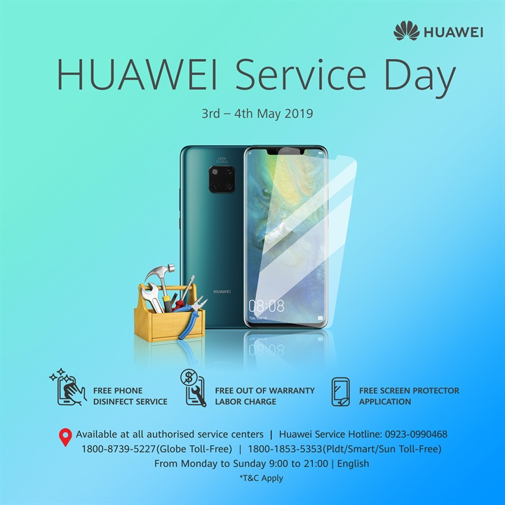Huawei Service Day Announcement