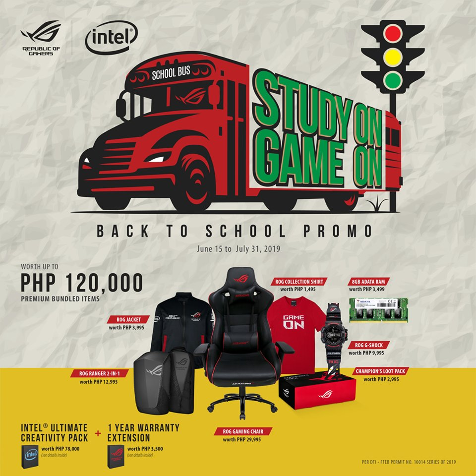 asus back to school promo, ASUS ROG Announces Study On, Game On Back to School Promo!, Gadget Pilipinas