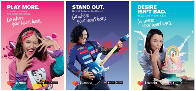 """Lazada Launches """"Go Where Your Heart Beats"""" Campaign, Unveils its New Logo!"""