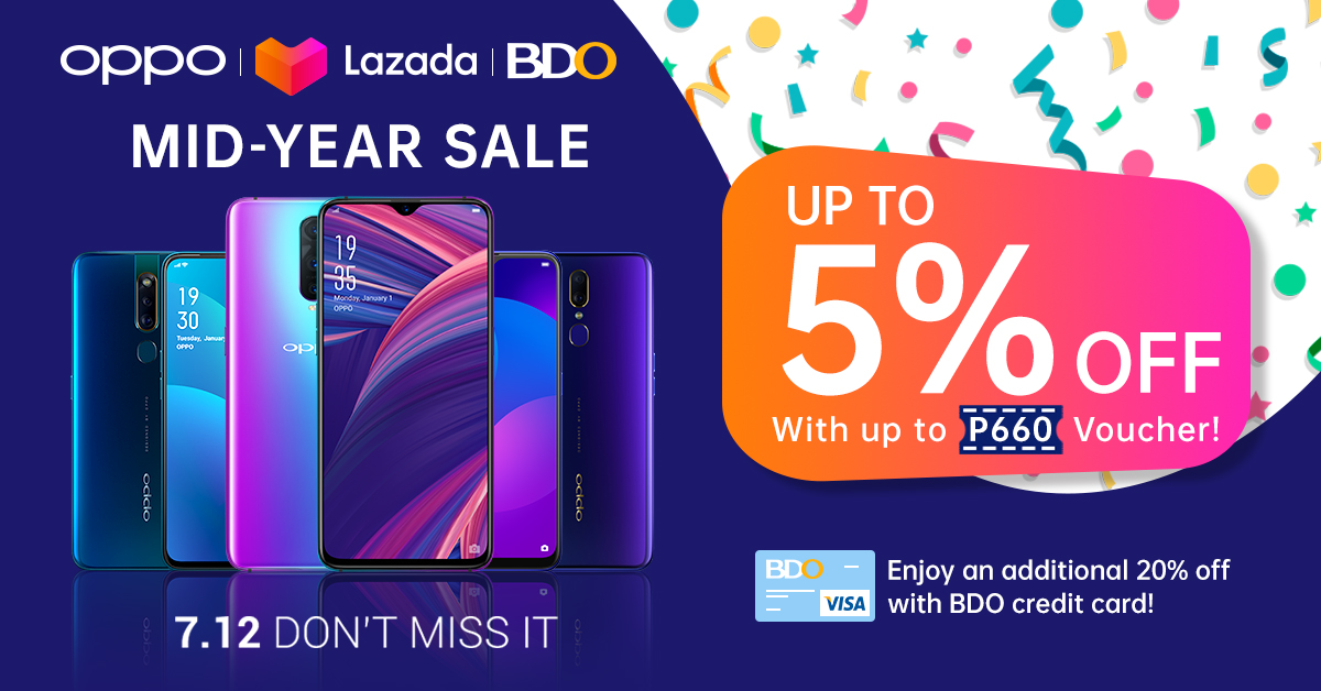 oppo lazada, Get up to 27.5% Off on Select OPPO Smartphones in Lazada with BDO!, Gadget Pilipinas, Gadget Pilipinas