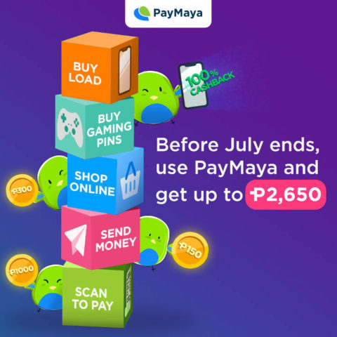 PayMaya cashback July, Get Up to PhP2,650 Cashback When You Use Your PayMaya Account!, Gadget Pilipinas
