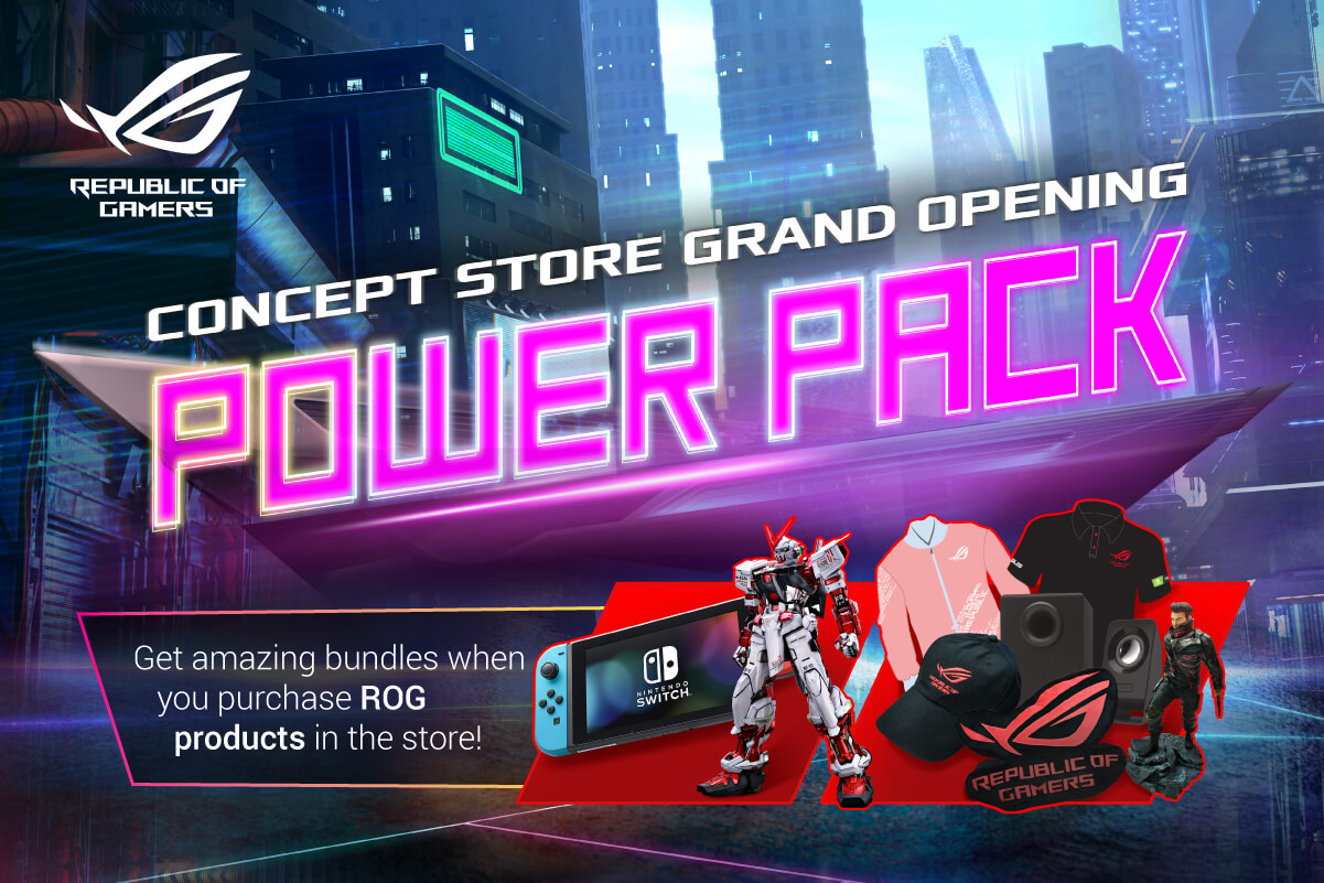 rog concept store gilmore, ASUS ROG Set to Open Concept Store in Gilmore, Announces Incredible Product Bundles!, Gadget Pilipinas