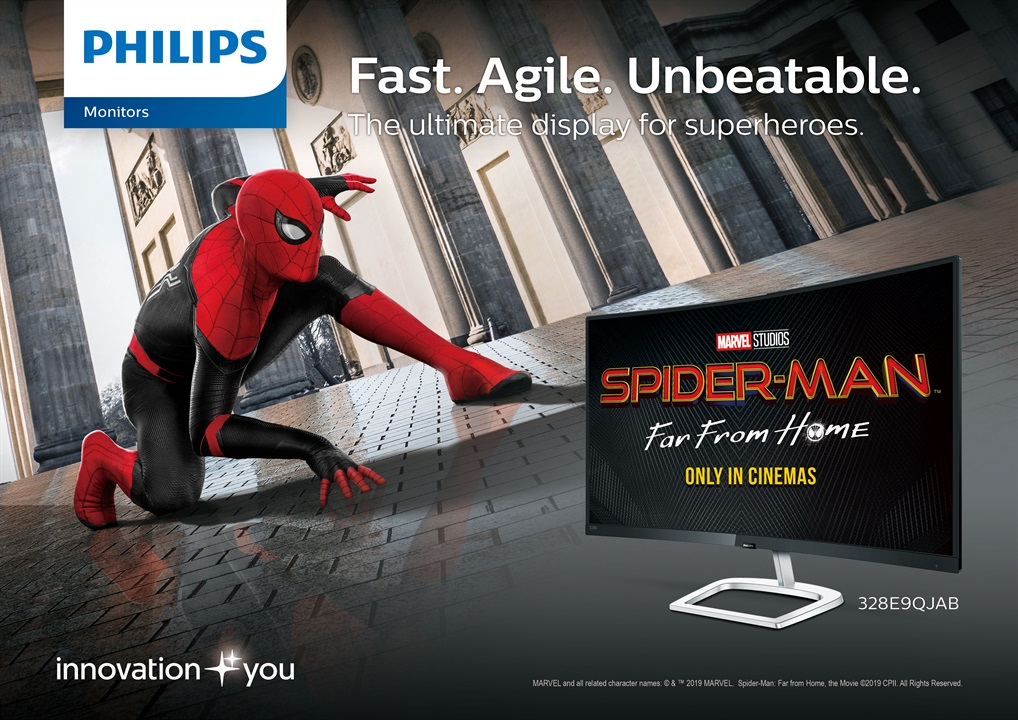 philips monitors, Get a Premuim Spider-Man: Far From Home Collectible With Every Purchase of Select Philips Monitors!, Gadget Pilipinas