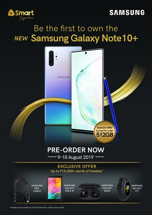 galaxy note 10 smart, Smart Announces Pre-Order Details for the Samsung Galaxy Note 10 Series!, Gadget Pilipinas