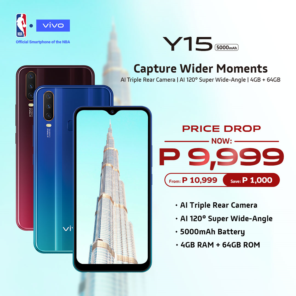 vivo y15, Vivo Y15 Gets a Price Drop, Now Priced at PhP9,999, Gadget Pilipinas