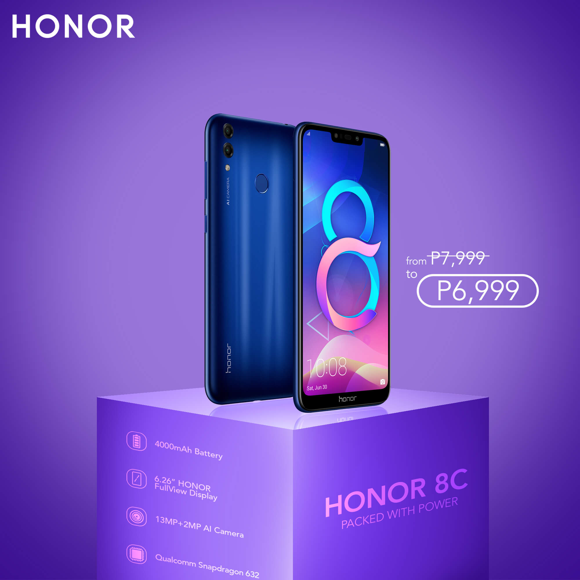 HONOR 8C, HONOR 8C Gets a Price Drop, Now at PhP6,999!, Gadget Pilipinas, Gadget Pilipinas