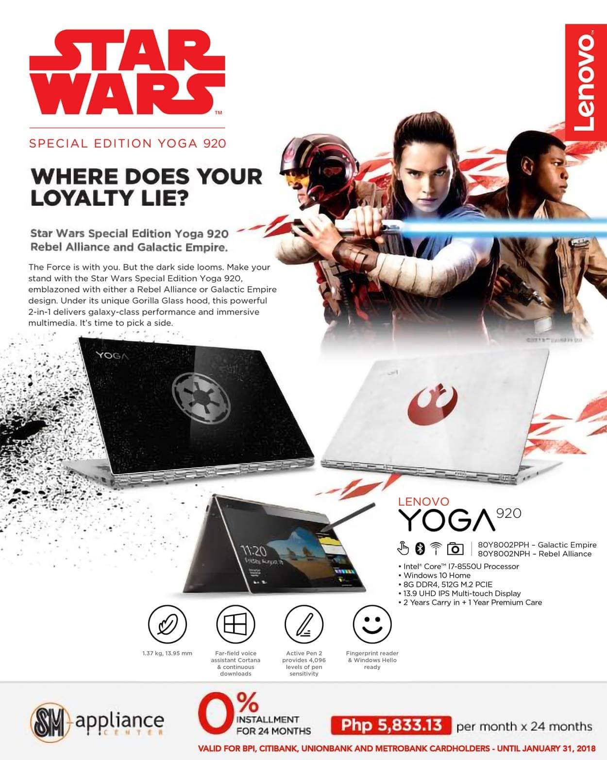 lenovo yoga 920 star wars, Lenovo Yoga 920 Galactic Empire and Rebel Alliance are massively on sale RIGHT NOW!, Gadget Pilipinas