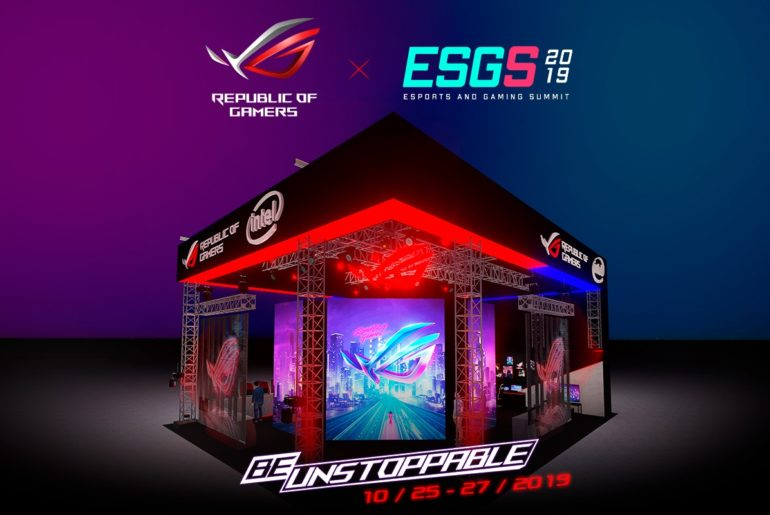 ROG Booth at ESGS 2019