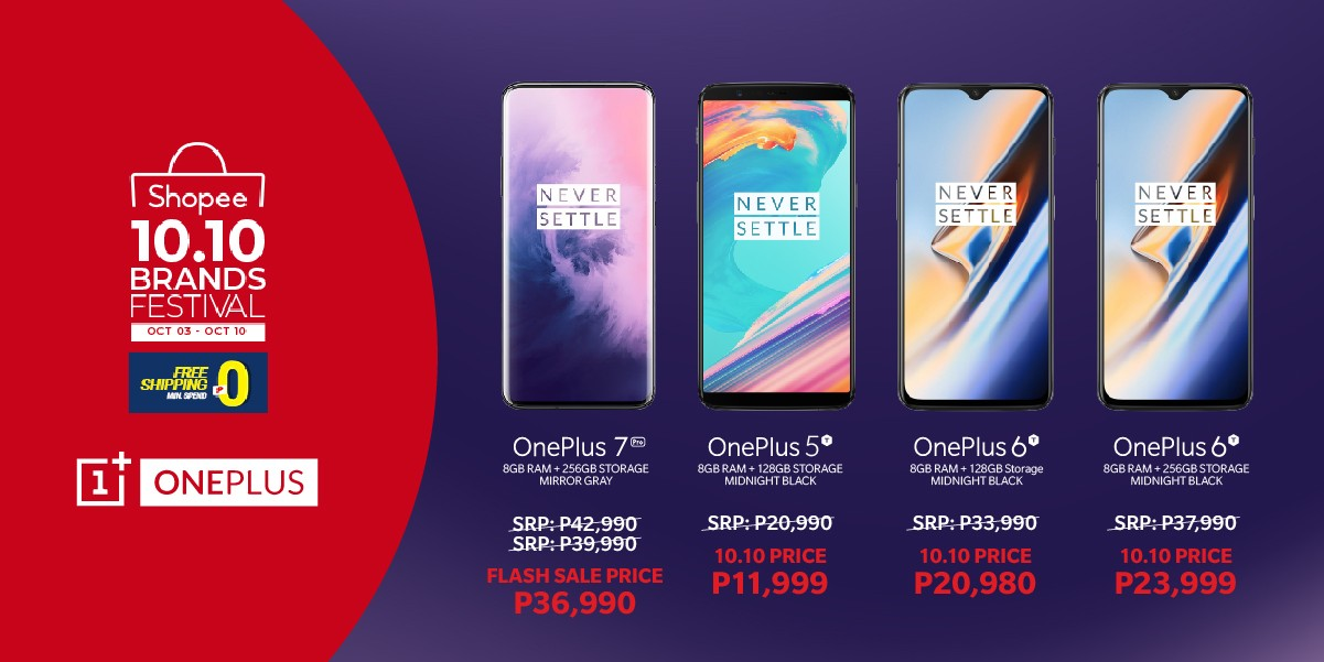 OnePlus 10.10, Get as Much as PhP6,000 Off a OnePlus 7 Pro via Shopee Today!, Gadget Pilipinas, Gadget Pilipinas