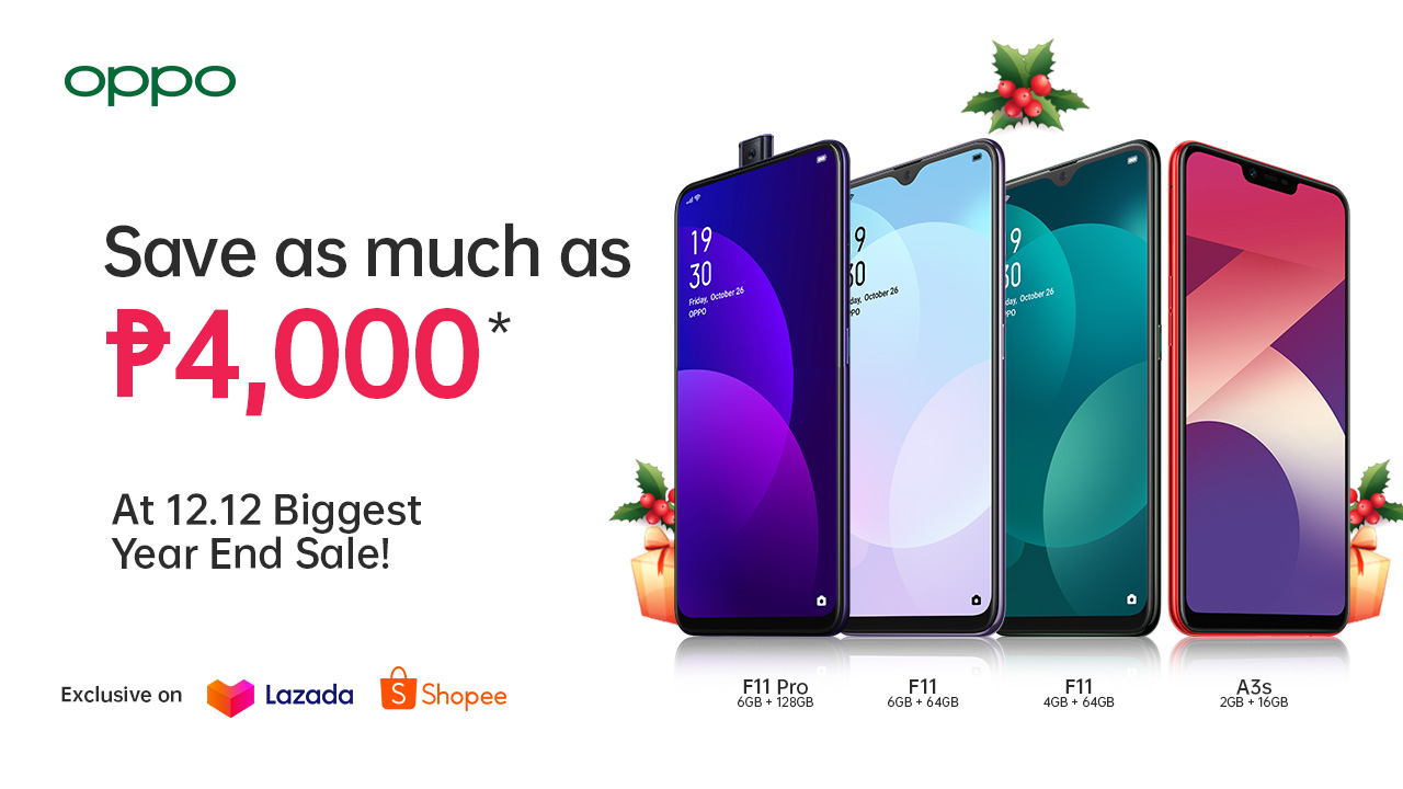 OPPO 12.12, Get Up to 24% Off on Select OPPO Smartphones at Lazada and Shopee!, Gadget Pilipinas, Gadget Pilipinas