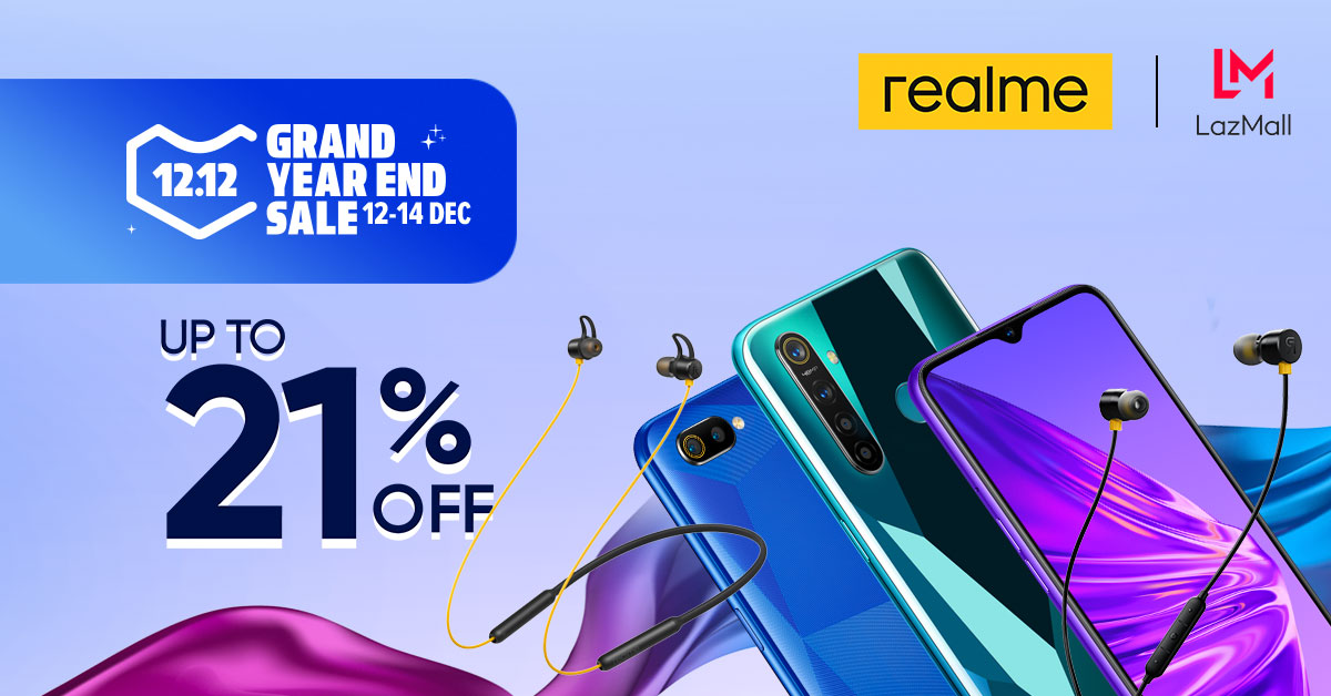 realme lazada 12.12, Realme to Launch Buds 2 and Buds Wireless on 12.12, Up to 21% Off on Smartphones!, Gadget Pilipinas, Gadget Pilipinas