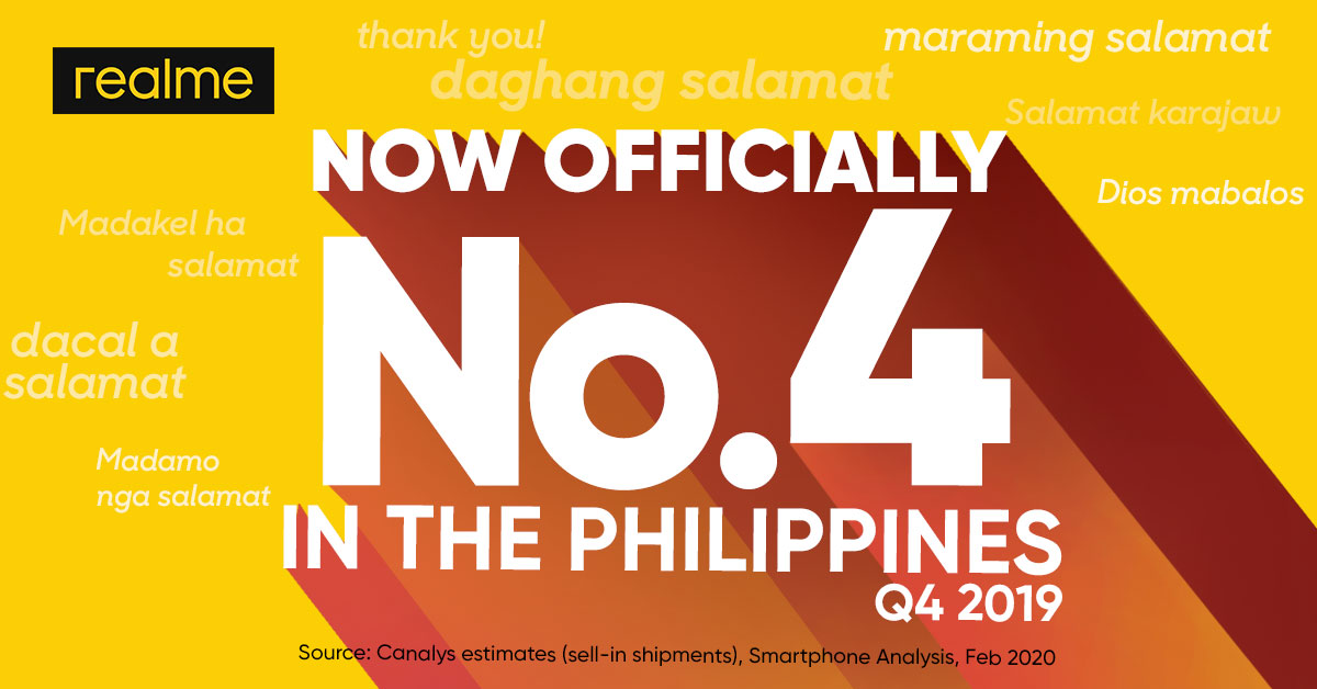 PHOTO RELEASE_realme Philippines is Top 4 Smartphone Brand