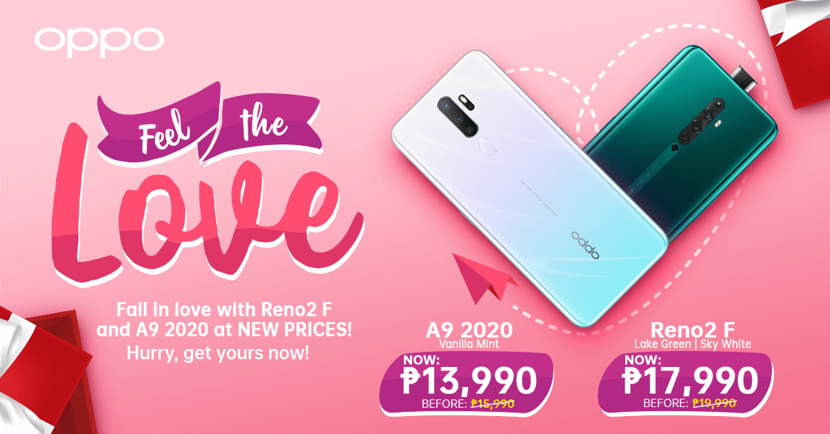 OPPO A9 2020 Price Drop, OPPO Announces Price Drop for A9 2020 Vanilla Mint and Reno2 F!, Gadget Pilipinas, Gadget Pilipinas