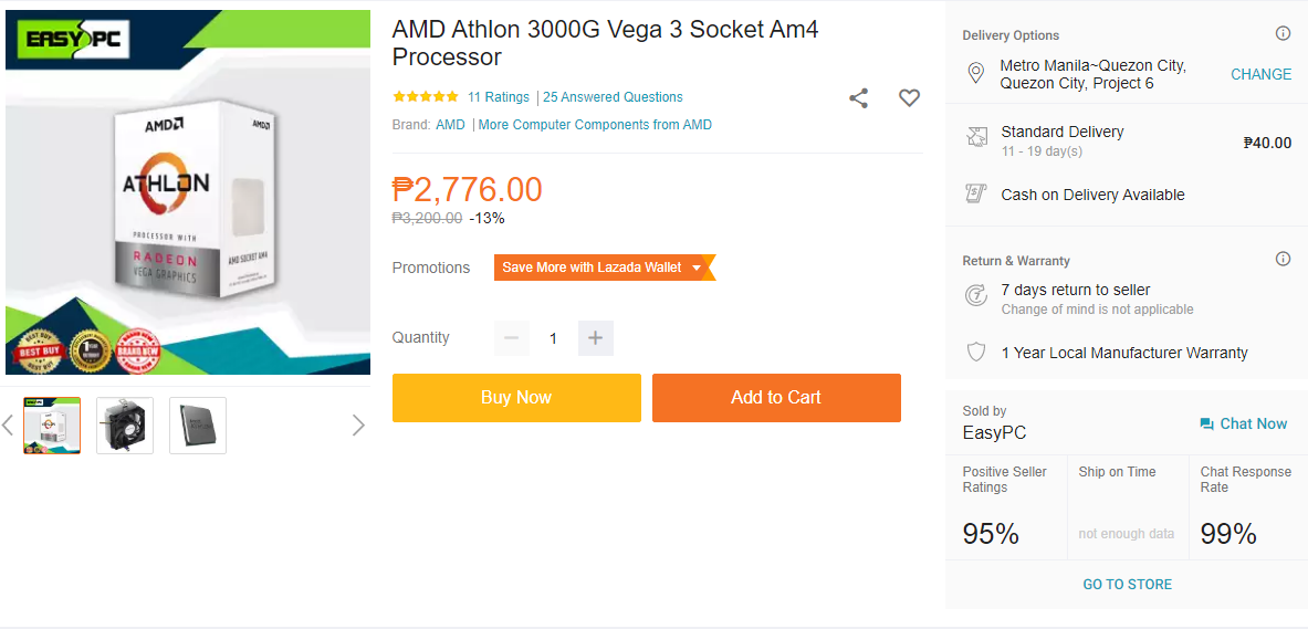 Php 10k Work From Home PC Build Guide - AMD Athlon 3000G