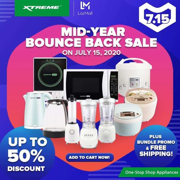 XTREME Appliances Lazada Mid-Year Bounce Back Sale 2