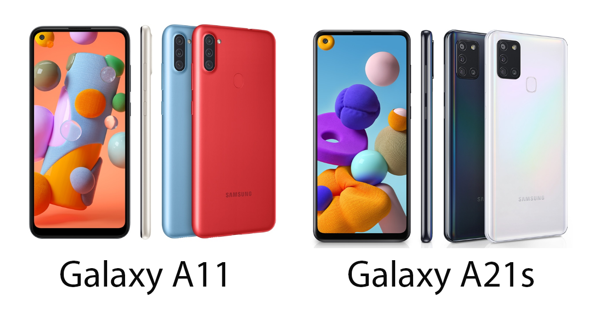 Samsung Galaxy A11 and A21s