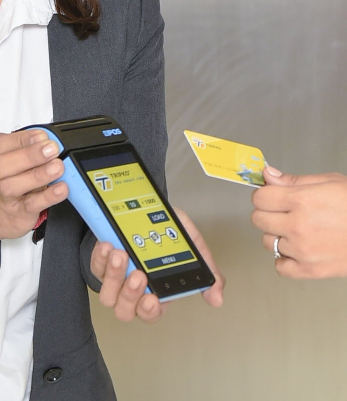 TRIPKO card to be tapped at TICKETKO, an automated ticketing system