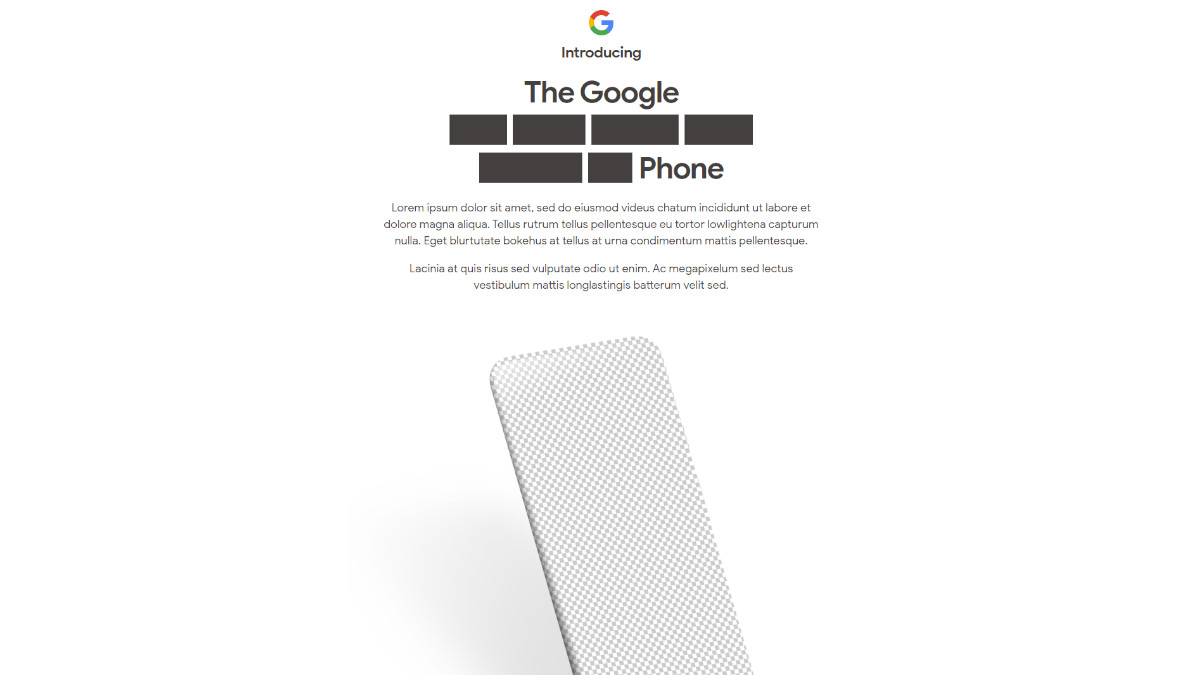 Pixel 4a reveal 1