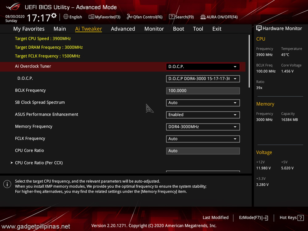 ROG Strix B550E Review - BIOS AITweaker