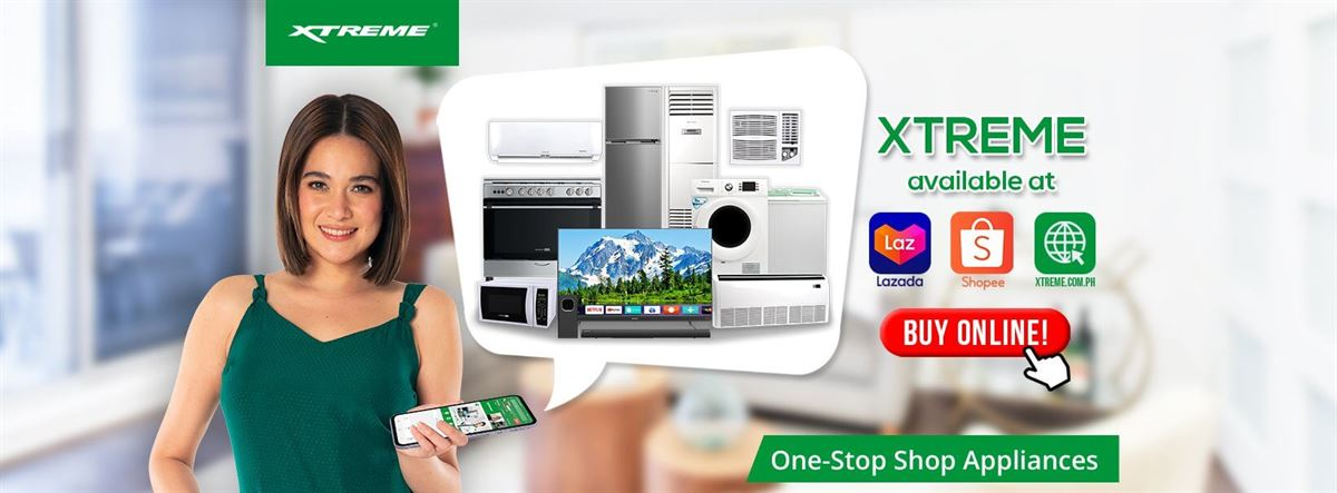 XTREME Appliances is available on Lazada Shopee and