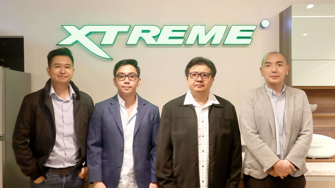 XTREME Stephen Cheng (Head of Marketing). Kevin Richard Lim (Vice President), Richard Lim (President and CEO), Adrian Lim (General Manager)