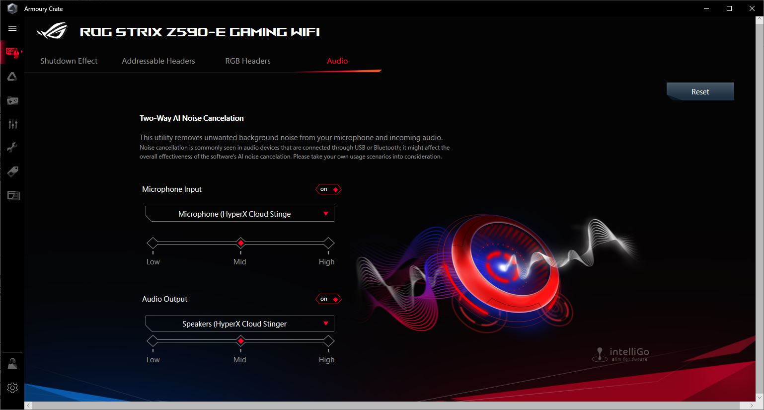 ASUS Two Way AI Noise Cancellation