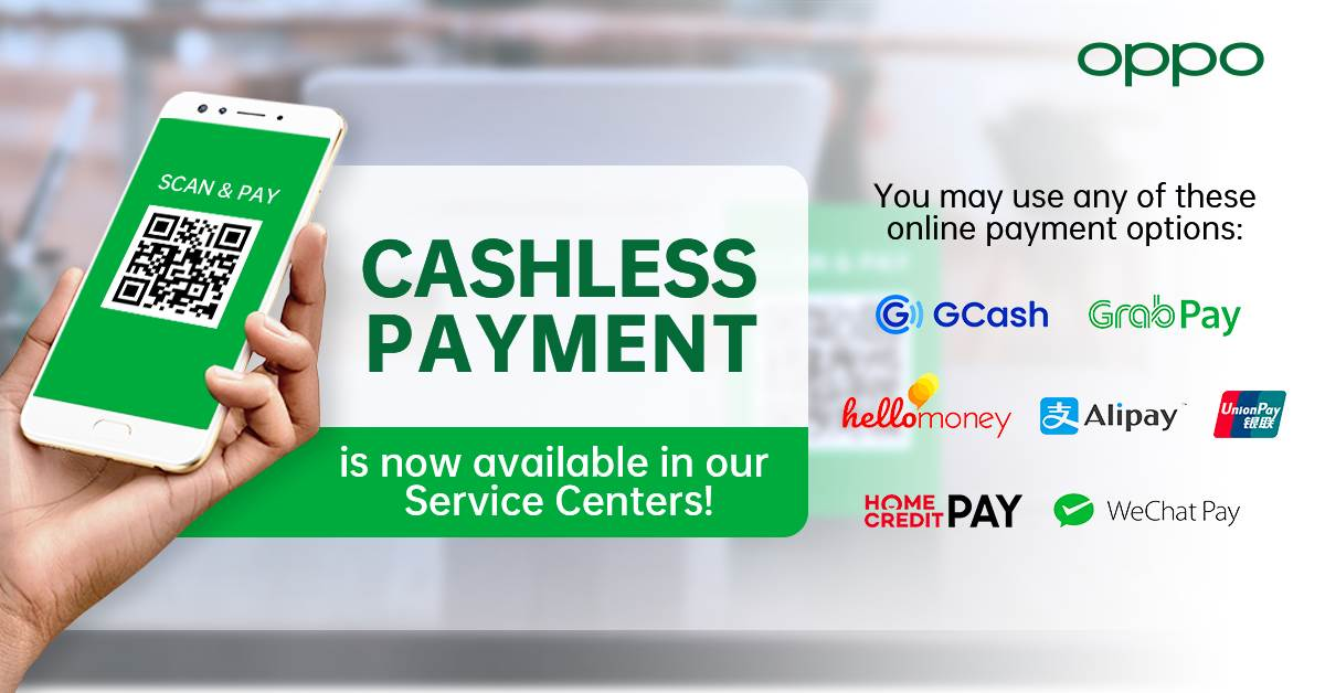 OPPO Service Centers Now Accept Cashless Payments