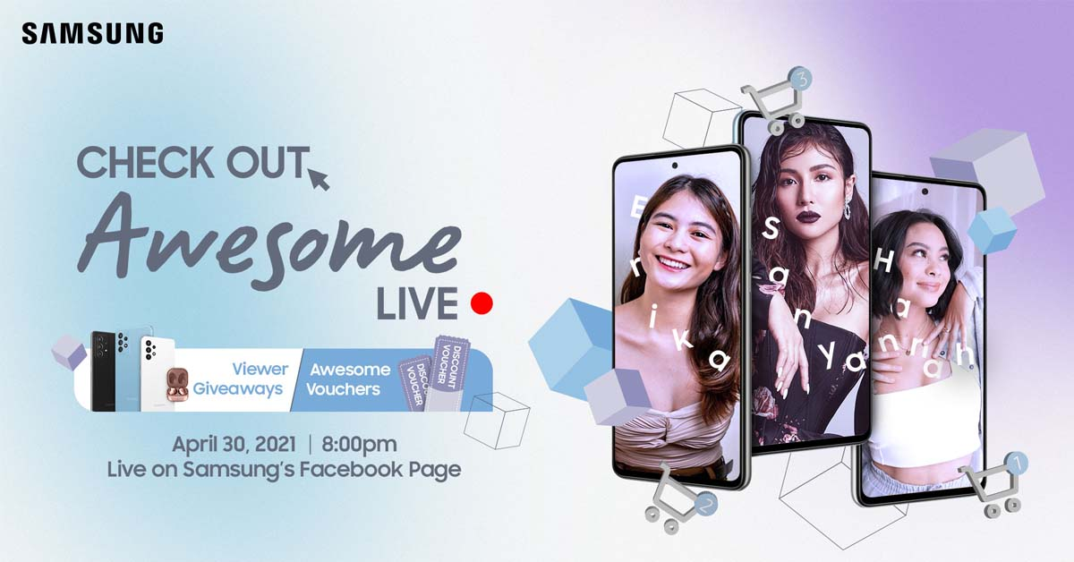 Join Team Galaxy Ambassadors in Samsung's #AwesomeLive Shopping Event