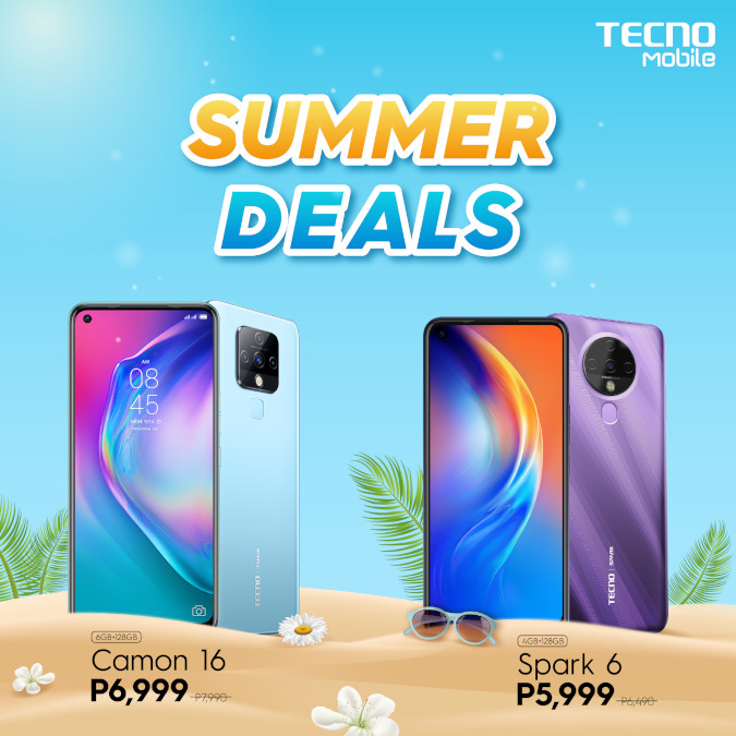 TECNO Summer Deals Spark 6 and Camon 16 poster
