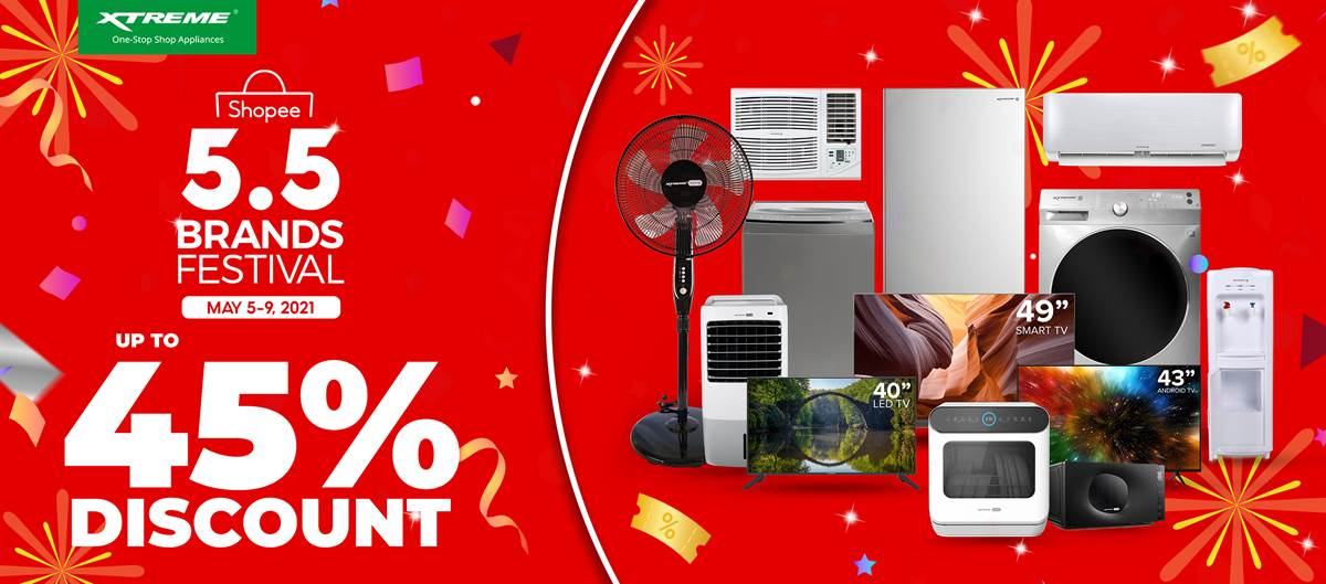 Enjoy Up to 45% Off on XTREME Appliances at the Shopee 5.5 Brands Festival Sale
