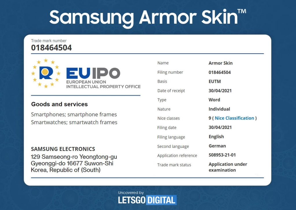 """Samsung Galaxy Devices Could Get Extra Durable with """"Armor Skin"""" and """"Armor Layer"""" Technology"""