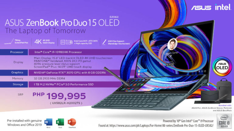 ASUS ZenBook Pro Duo 15 OLED i9 variant