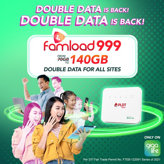 Double Data for Prepaid Home WiFi