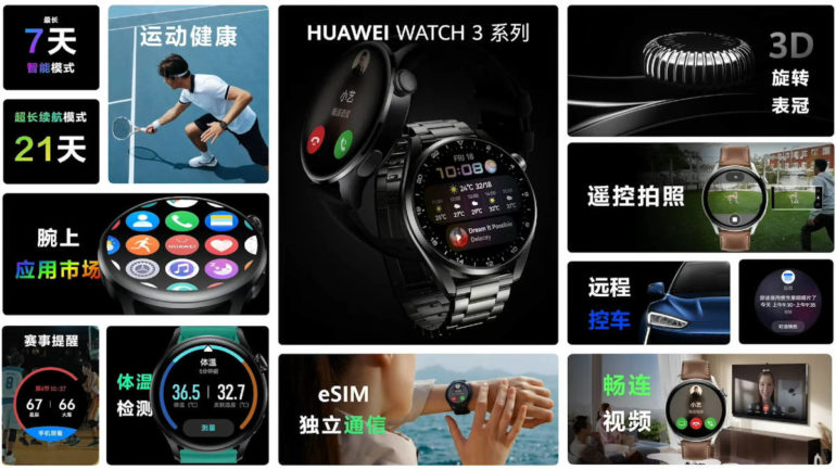 Huawei Watch 3 series features