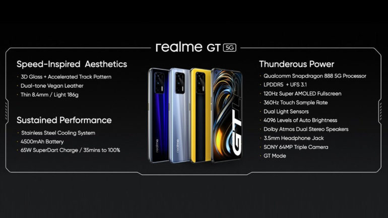 realme GT 5G global launch features