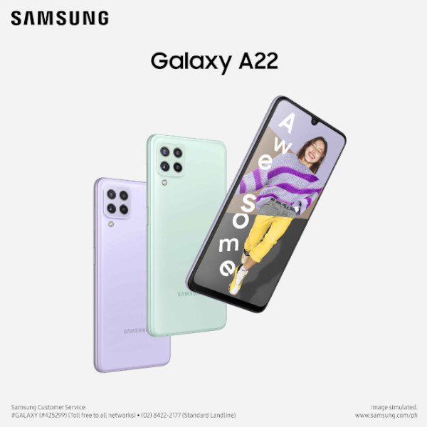 Samsung Galaxy A22 Philippines launch poster