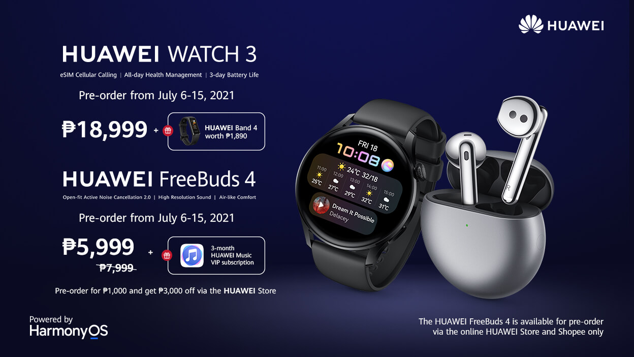 huawei watch 3 and freebuds 4 pre-order